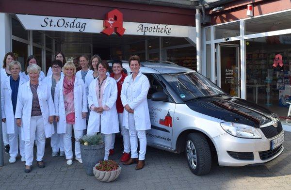 Team der St. Osdag-Apotheke Mandelsloh