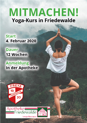 Aktionsflyer der Apotheke Friedewalde