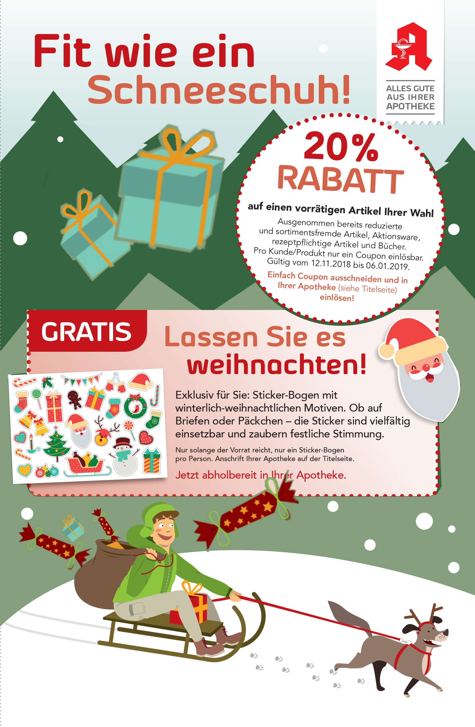 Aktuelles - Coupons im Winter | Triebischtal-Apotheke in 01662 Meißen