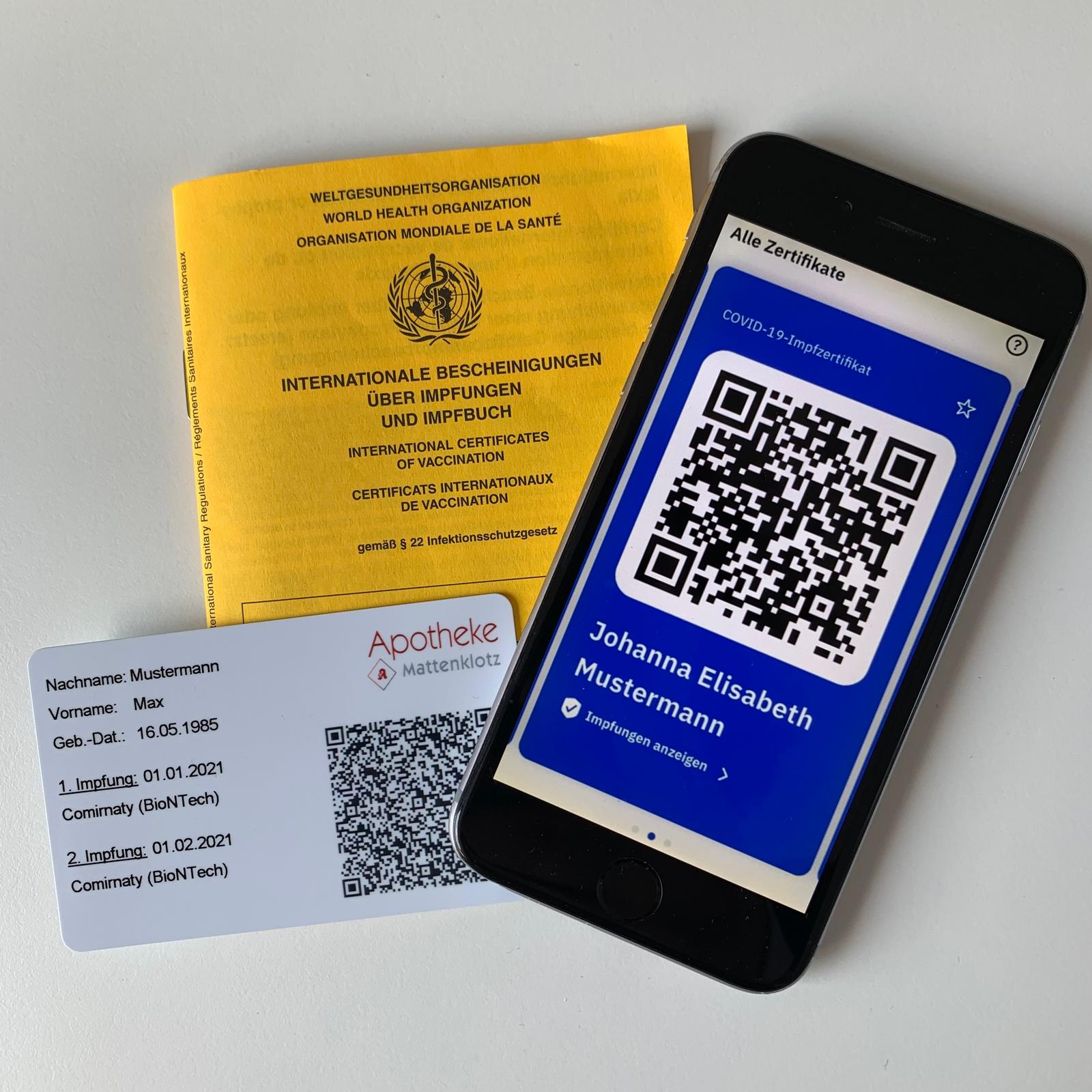 digitaler Impfpass und Impfnachweiskarte