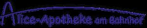 Logo der Alice-Apotheke am Bahnhof