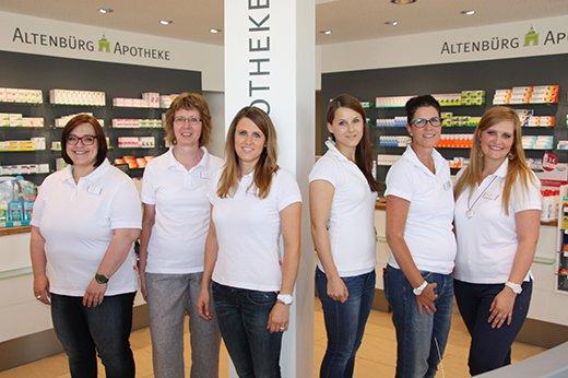 Team der Altenbürg-Apotheke OHG