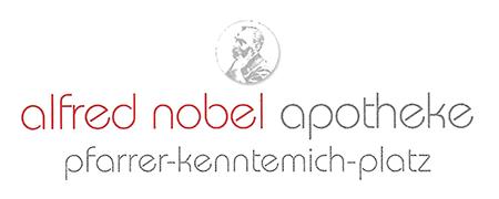 Logo der Alfred Nobel Apotheke am Pfarrer-Kenntemich-Platz
