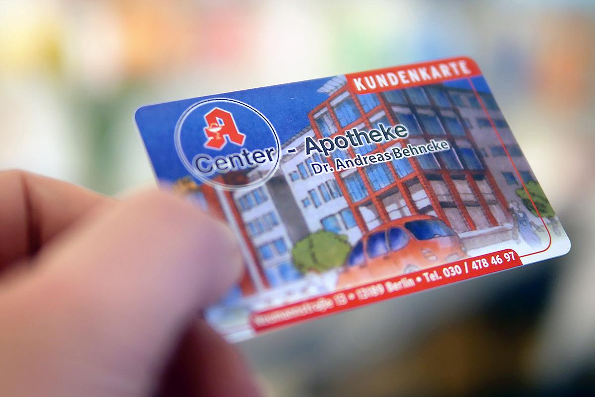 Kundenkarte der Center-Apotheke Berlin Pankow