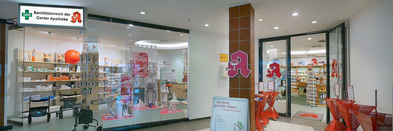 Der Sanitätsbereich der Center-Apotheke