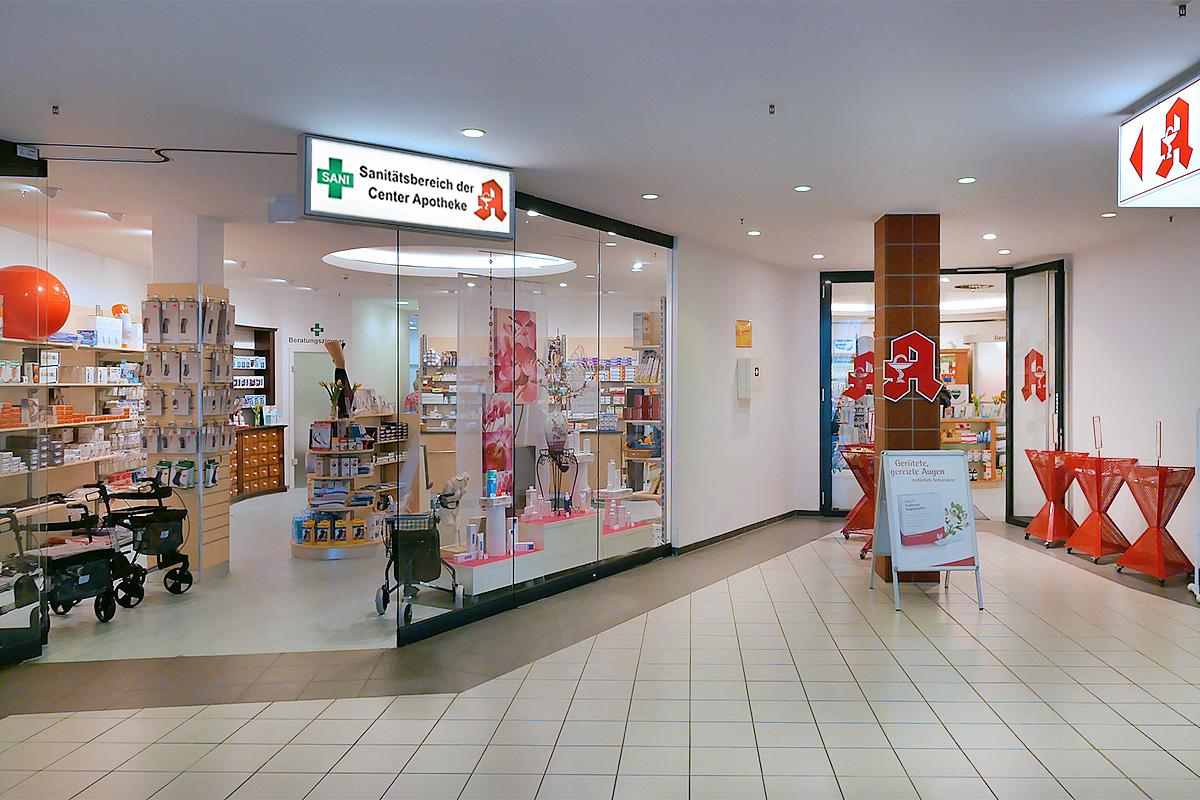 Sanitätsbereich der Center-Apotheke in Berlin Pankow
