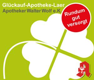 Logo der Glückauf-Apotheke-Laer