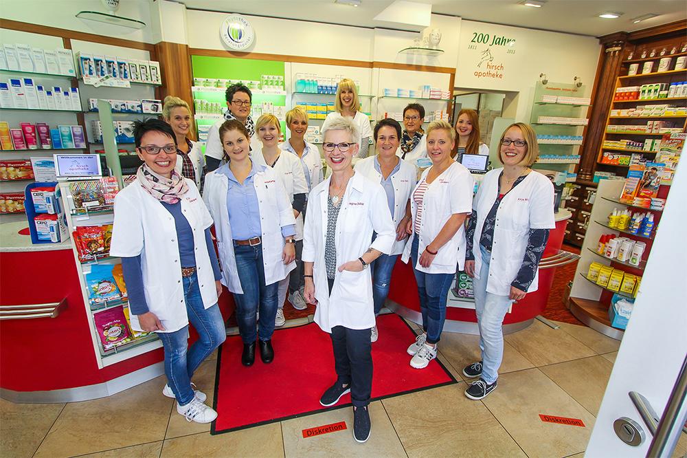 Team der Hirsch-Apotheke