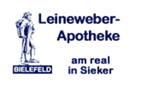 Logo der Leineweber-Apotheke am real