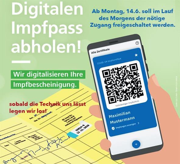 Impfpass Digitalisierung Bild 1