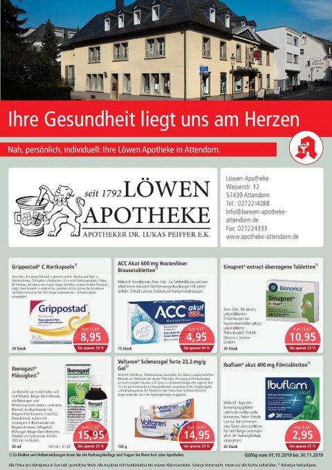 Aktionsflyer der Löwen-Apotheke