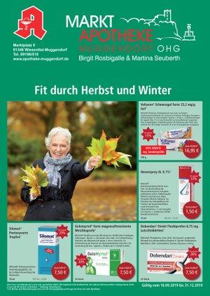 Aktionsflyer der Markt-Apotheke Muggendorf OHG