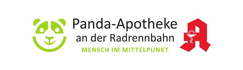 Logo Panda-Apotheke an der Radrennbahn