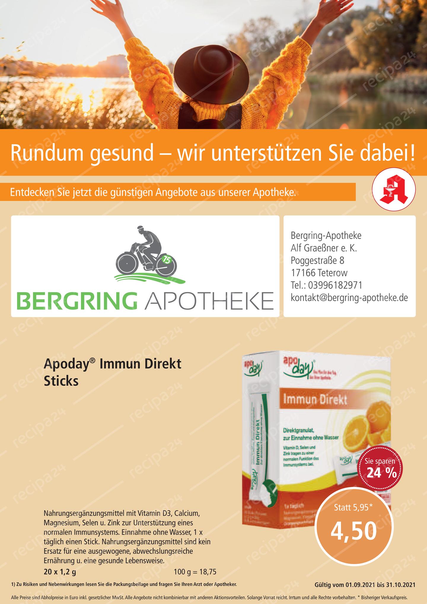 Aktionsflyer der Bergring-Apotheke
