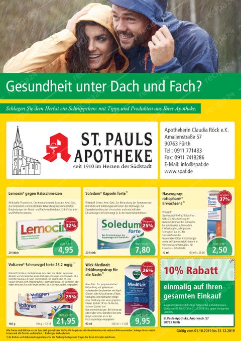 Aktionsflyer der St. Pauls Apotheke