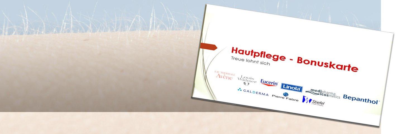 Unsere Hautpflege-Bonuskarte