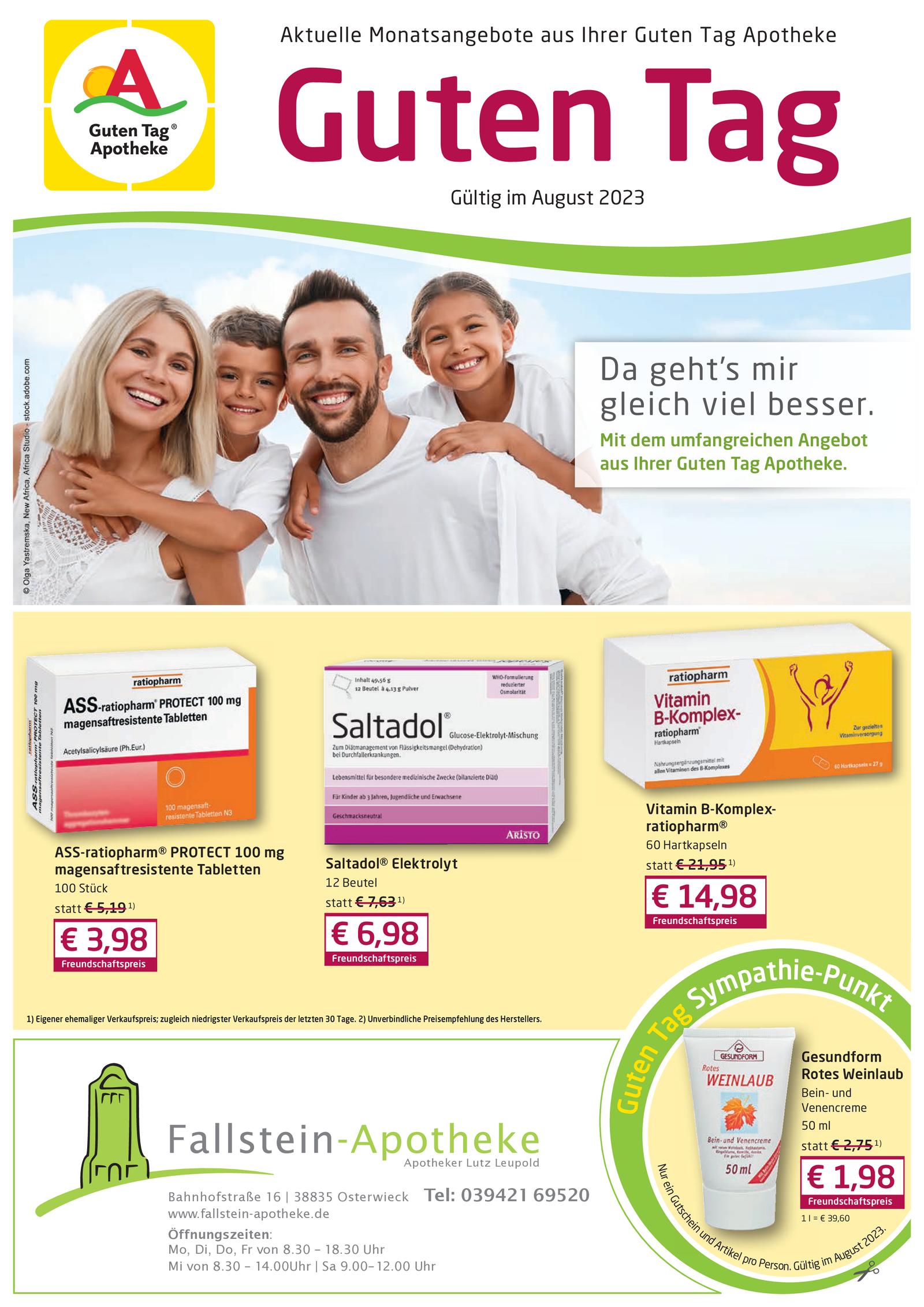 Angebot der Fallstein-Apotheke Osterwieck