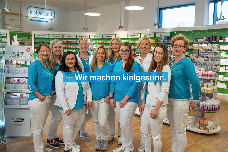 Team der kielgesund Apotheke in der Wik