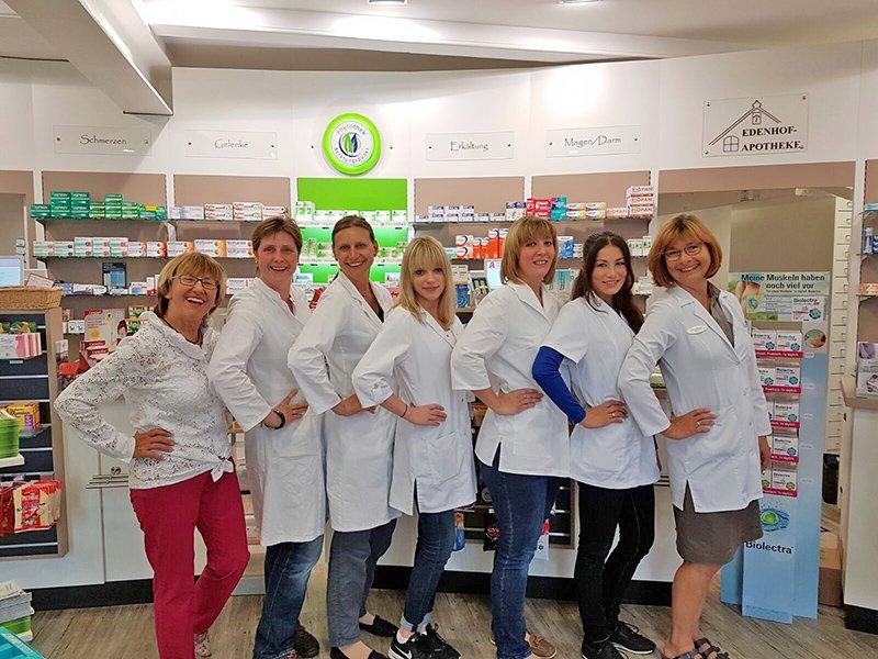 Team der Edenhof-Apotheke