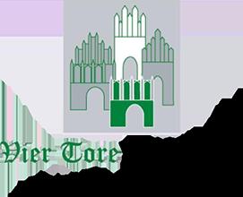 Logo der Vier-Tore-Apotheke am Kaufland