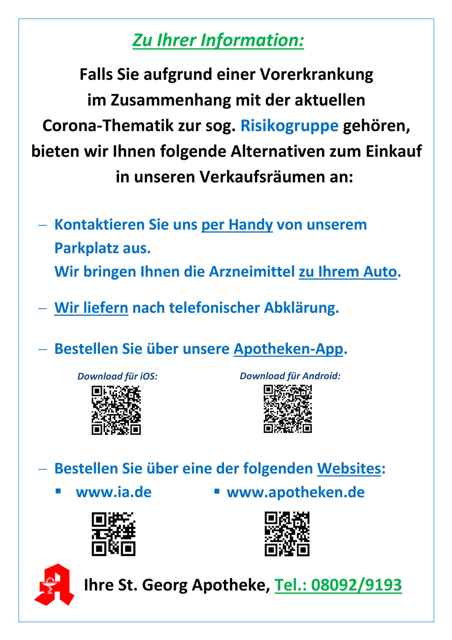 Aktionsflyer der St. Georg Apotheke