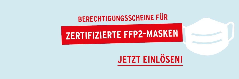 Berechtigungsscheine für FFP2 Masken