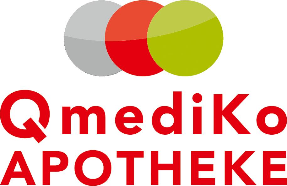 Logo der Qmediko-Apotheke im Ärztehaus OHG