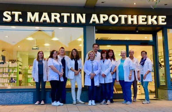 Team der Sankt Martin-Apotheke Meckesheim