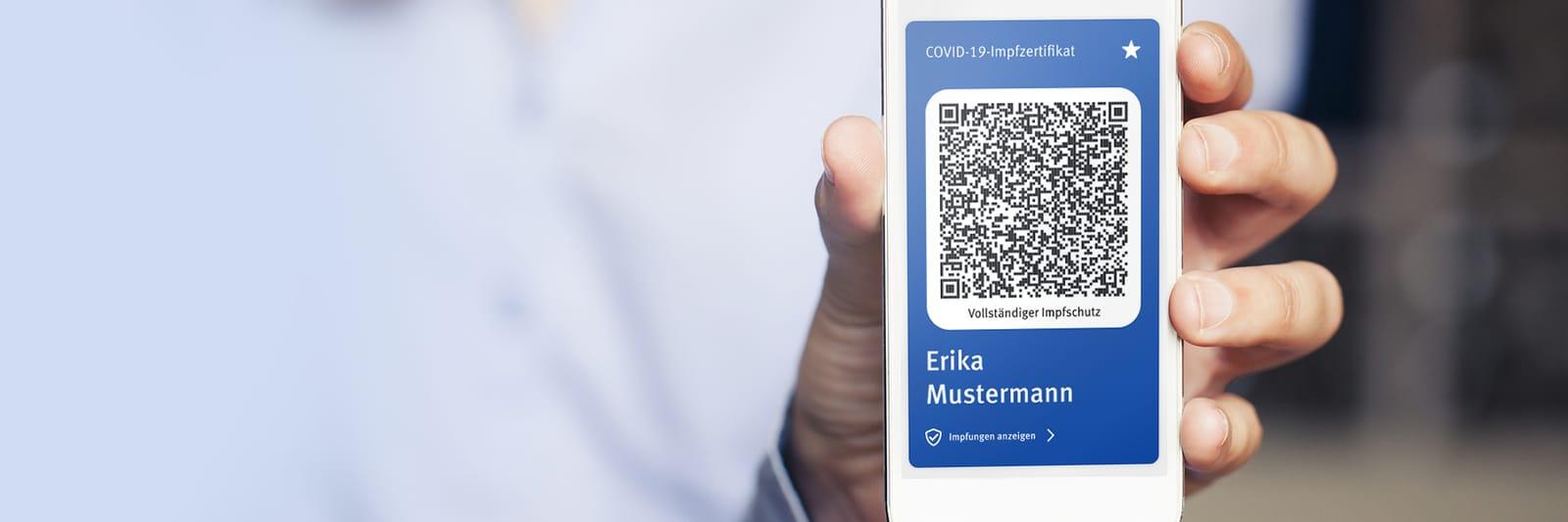 Wir erstellen Ihr digitales Impfzertifikat
