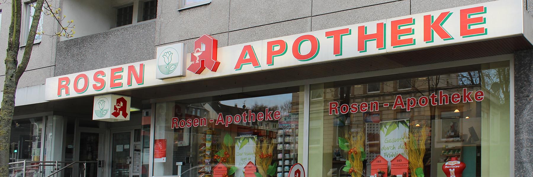 Herzlich willkommen in Ihrer Rosen-Apotheke!