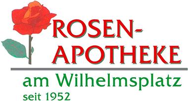 Logo der Rosen-Apotheke am Wilhelmsplatz