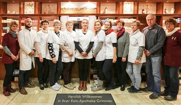 Team der Rats-Apotheke Grimmen