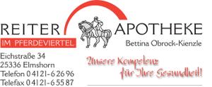 Logo der Reiter-Apotheke im Pferdeviertel