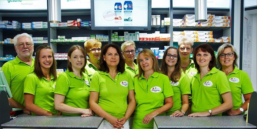 Team der Wald-Apotheke Hackl-Wernsdorfer OHG
