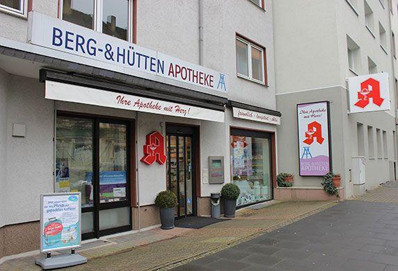 Aussenansicht Berg- & Hütten-Apotheke in Bochum