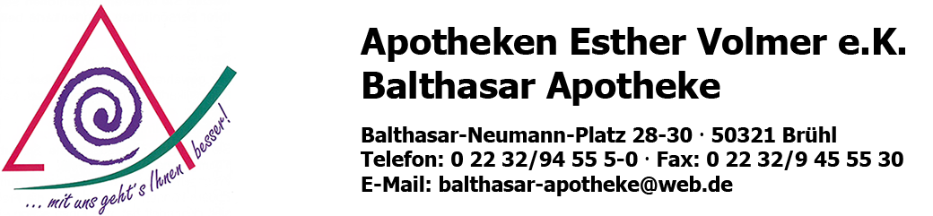 Logo der Apotheken Esther Volmer e.K. Balthasar Apotheke