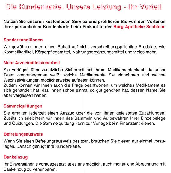 Kundenkarte | Apotheken Esther Volmer e.K. Balthasar Apotheke in ...