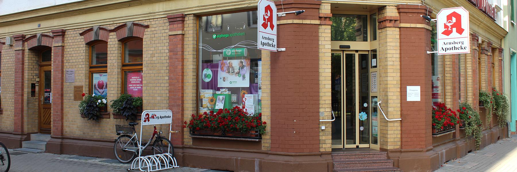 Herzlich willkommen in Ihrer Arnsberg-Apotheke