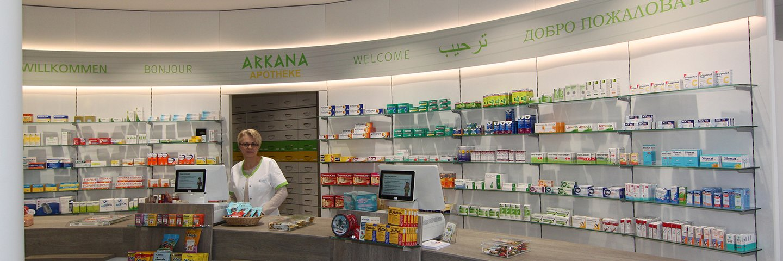 Herzlich willkommen in Ihrer Arkana-Apotheke