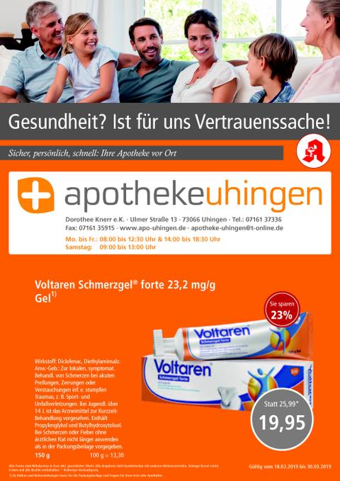 Aktionsflyer der Apotheke Uhingen